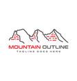three mountain outline logo design vector image vector image