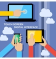 Touch screen gadgets vector image vector image