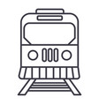 train in city line icon sign vector image vector image