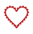 valentine day heart decorative vector image