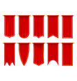 vertical red flags or banners 3d pennant vector image