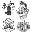 vintage monochrome barbershop prints vector image vector image