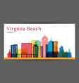 virginia beach city architecture silhouette vector image vector image