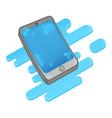wet smartphone vector image vector image