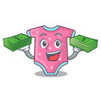 with money cartoon baby clothes for the newborn vector image vector image