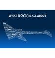 Rock Guitar Words Design vector image