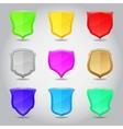 Shield label set vector image
