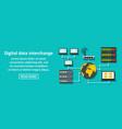 digital data interchange banner horizontal concept vector image