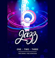 jazz party design template vector image