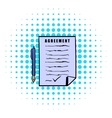 Agreement icon comics style vector image vector image