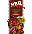 bbq and grill banner barbecue party vector image