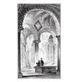 bedes tomb durham cathedral vintage vector image vector image
