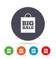 big sale bag sign icon special offer symbol vector image