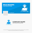 blue business logo template for engineer vector image vector image