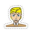 cartoon man avatar image vector image vector image