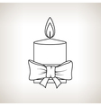 Christmas Festive Candle on a Light Background vector image vector image