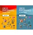 circus logo design template entertainment vector image
