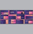 colorful presentation templates elements vector image vector image