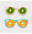 colorful two sunglasses isolated transparent vector image vector image