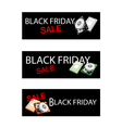 Computer Hard Disk on Three Black Friday Banner vector image