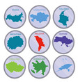 countries of the world on the coins set vector image vector image
