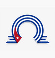 cuban flag rounded abstract background vector image