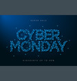 cyber monday sale banner low poly advertising vector image vector image