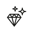 diamond icon on white background vector image