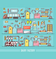 diary factory in linear style vector image