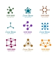 Dna and molecule logos for tech medicine vector image vector image