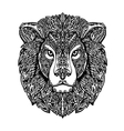 Ethnic ornamented lion Hand drawn vector image vector image