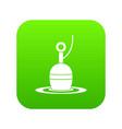 floating bobber icon digital green vector image