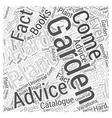 Gardening Advice Word Cloud Concept vector image vector image