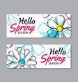 hello spring sale banner template with colorful vector image