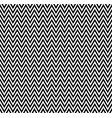 horizontal black and white zigzag stripes pattern vector image