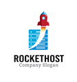 Host Rocket Design vector image vector image