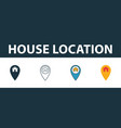 house location icon set four elements in diferent vector image vector image