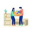 house moving helping each other vector image vector image
