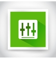 Icon of setting for web and mobile applications vector image vector image