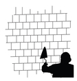 man front the brick wall vector image