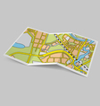 Map booklet vector image