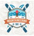 mountaineering ski patch ski club retro vector image