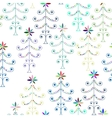 Multicolor Christmas Trees Seamless Pattern vector image vector image