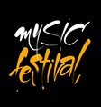 music festival lettering template vector image vector image