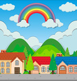 Neighborhood at day time vector image