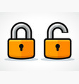 padlocks design icon concept vector image