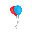 pair of balloons icon vector image vector image