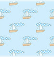 patchwork boat seamless pattern vector image vector image
