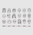 people stickers people avatars patches vector image