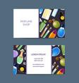 perfume bottles business card for fragrance vector image